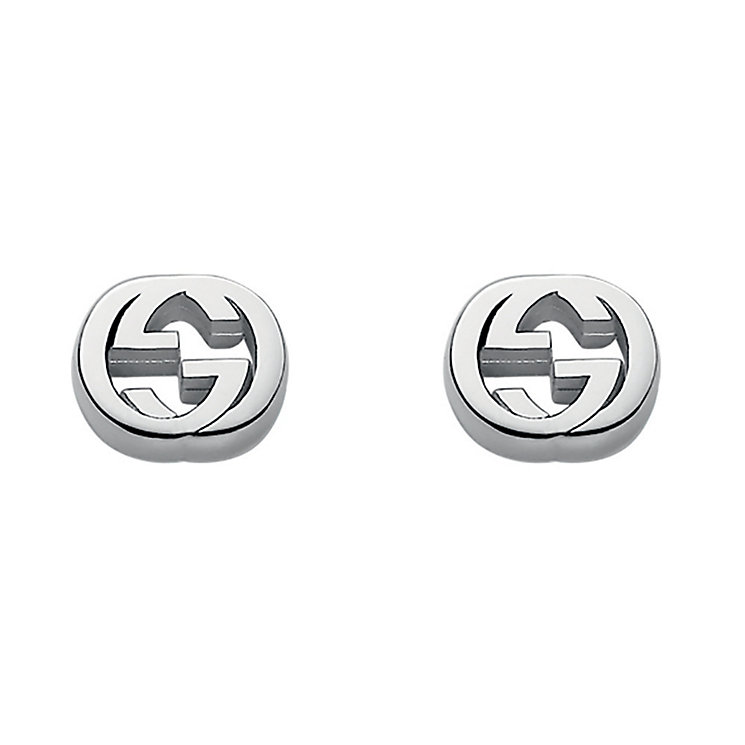 Gucci sterling silver interlocking 'G' motif stud earrings - Product number 2016257