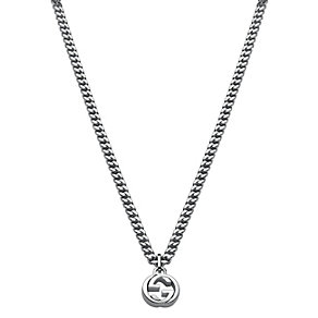 Gucci sterling silver interlocking 'G' motif pendant - Product number 2016265