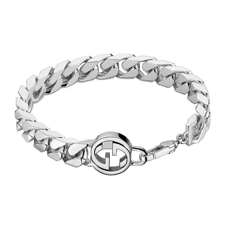 Gucci sterling silver interlocking 'G' motif bracelet - Product number 2016273