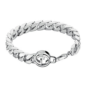 Gucci sterling silver interlocking 'G' motif bracelet - Product number 2016273