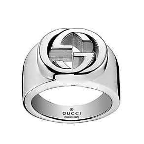 Gucci Craft sterling silver interlocking 'G' motif ring - Product number 2016354
