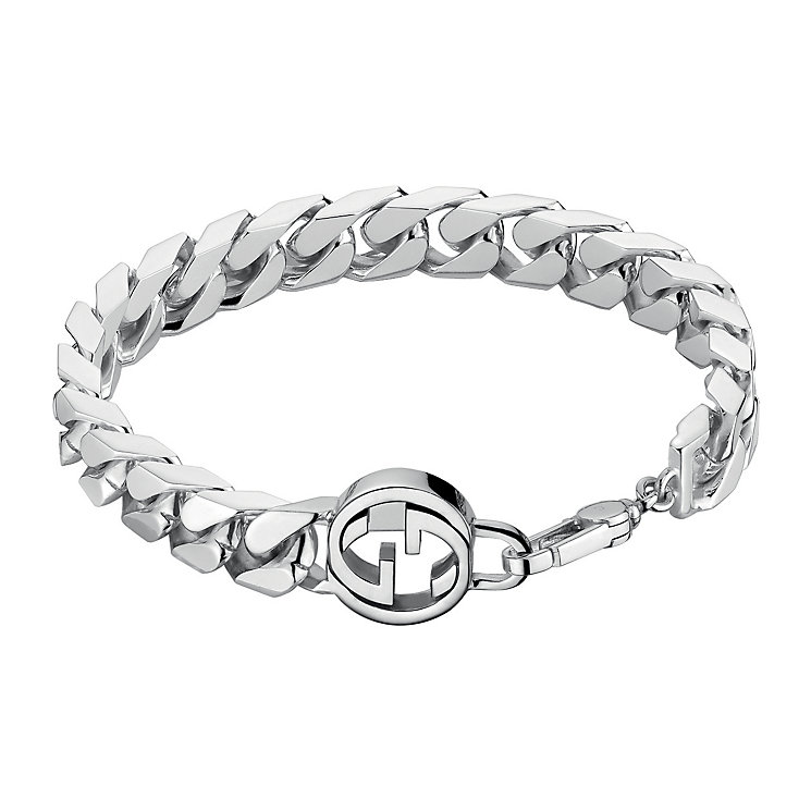 Gucci sterling silver interlocking 'G' motif bracelet - Product number 2016362