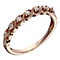 9ct Rose Gold 0.10 Carat Diamond Twist Eternity Ring - Product number 2017407