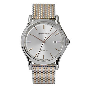 Emporio Armani Swiss Made men's two colour bracelet watch - Product number 2018071
