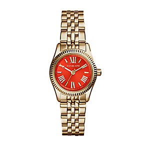Michael Kors ladies' gold-plated bracelet watch - Product number 2018241