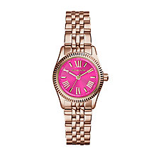 Michael Kors ladies' rose gold-plated bracelet watch - Product number 2018268