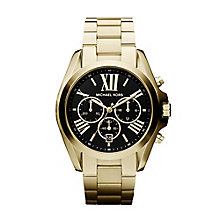 Michael Kors Ladies' Gold Tone Chronograph Bracelet Watch - Product number 2018284
