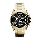 Michael Kors ladies' gold-plated chronograph bracelet watch - Product number 2018284