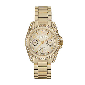 Michael Kors ladies' stone set gold-plated bracelet watch - Product number 2018330