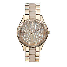 Michael Kors ladies' rose gold plated bracelet watch - Product number 2018349