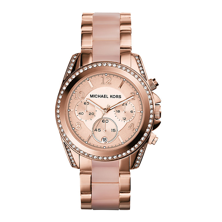 Michael Kors Blair Ladies' Pvd Rose Tone Bracelet Watch - Product number 2018365