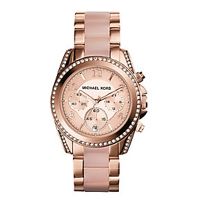 Michael Kors Blair Ladies' Pvd Rose Tone Bracelet Watch - Product number 2018365