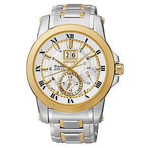 Seiko Premier men's two colour bracelet watch - Product number 2018802