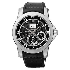 Seiko Premier men's stainless steel rubber strap watch - Product number 2018810