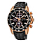 Seiko Sport men's rose gold-plated black leather strap watch - Product number 2018845