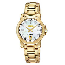 Seiko Premier Ladies' Gold-Plated Bracelet Watch - Product number 2018861