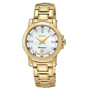 Seiko ladies' gold-plated bracelet watch - Product number 2018861