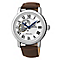 Seiko men's brown leather strap watch - Product number 2018918