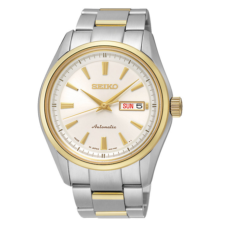 Seiko men's two colour bracelet watch - Product number 2019116