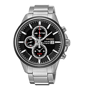Seiko Solar men's chronograph stainless steel bracelet watch - Product number 2019132