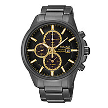 Seiko Solar men's black ion-plated bracelet watch - Product number 2019140