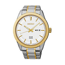 Seiko men's two colour Dress bracelet watch - Product number 2019205