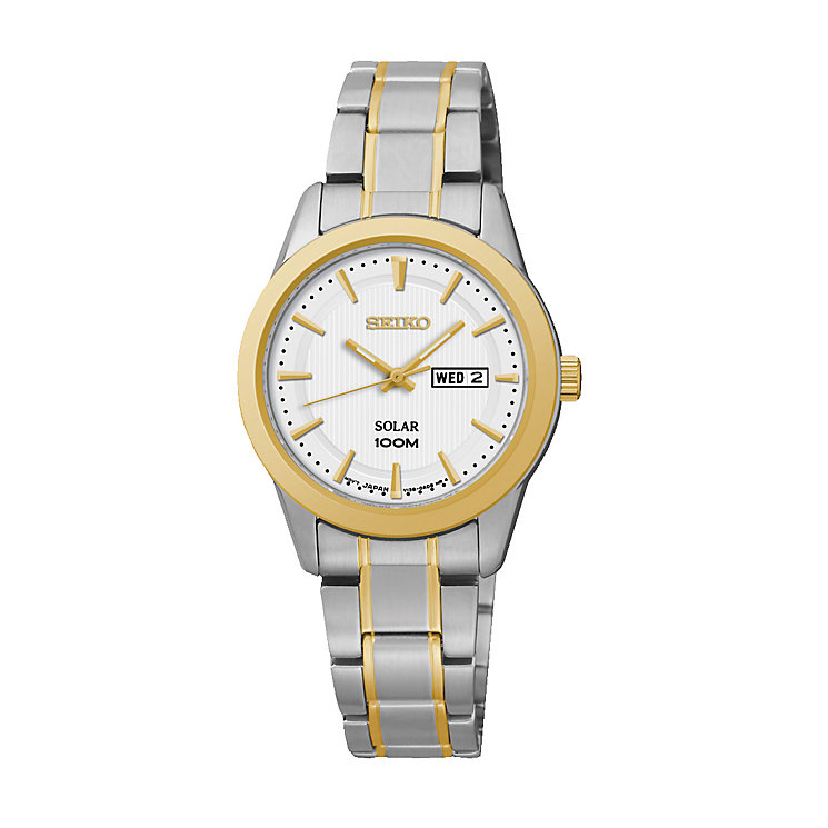 Seiko ladies' two colour Dress bracelet watch - Product number 2019221