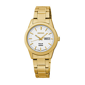 Seiko ladies' gold-plated Dress bracelet watch - Product number 2019248
