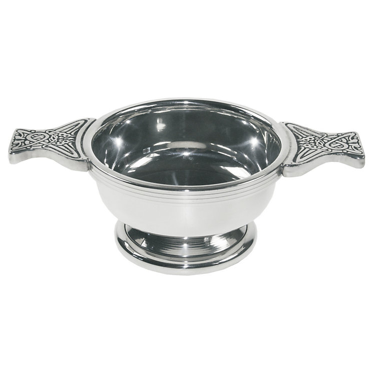 Celtic Design Small Pewter Quaich - Product number 2020041