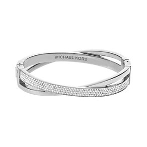 Michael Kors stone set silver tone crossover bangle - Product number 2021404
