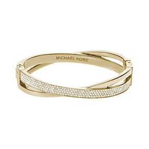 Michael Kors stone set gold-plated crossover bangle - Product number 2021412