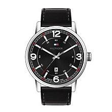 Tommy Hilfiger Men's Black Dial Black Leather Strap Watch - Product number 2023652