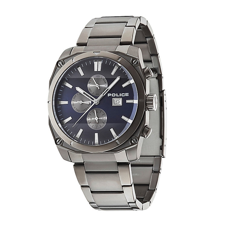 Police Men's Chronograph Gunmetal Ion-Plated Bracelet Watch - Product number 2023709