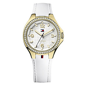 Tommy Hilfiger Ladies' White Rubber Strap Watch - Product number 2024128