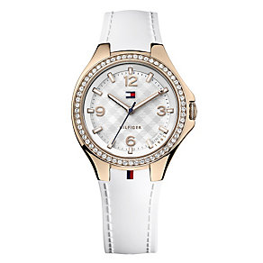 Tommy Hilfiger Ladies' White Rubber Strap Watch - Product number 2024187