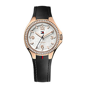 Tommy Hilfiger Ladies' Black Rubber Strap Watch - Product number 2024195
