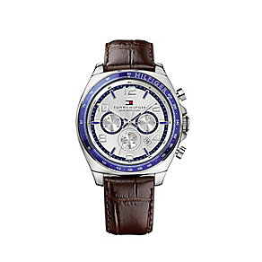 Tommy Hilfiger Men's Chronograph Brown Leather Strap Watch - Product number 2024462