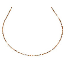 "9ct Rose Gold 18"" Belcher Chain - Product number 2024578"