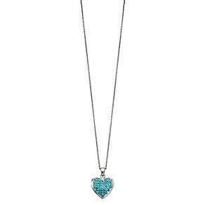 Fiorelli Blue Stone Set Heart Pendant - Product number 2024659