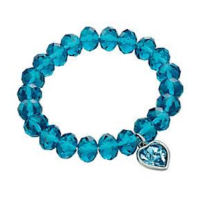 Fiorelli Blue Swarovski Elements Drop Heart Bead Bracelet - Product number 2024756