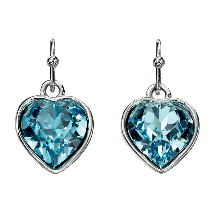 Fiorelli Blue Swarovski Crystal Elements Heart Earrings - Product number 2024764