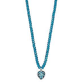 Fiorelli Blue Swarovski Elements Drop Heart Bead Necklace - Product number 2024918