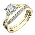 Perfect Fit 9ct Yellow Gold � Carat Diamond Bridal Set - Product number 2026414