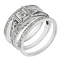 Perfect Fit 9ct White Gold Diamond Three Piece Bridal Set - Product number 2026805