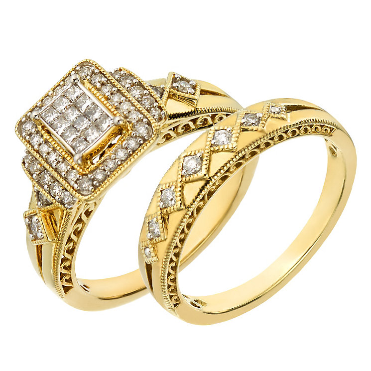 Perfect Fit Signature 9ct Yellow Gold 2/5ct Diamond Bridal - Product number 2026945
