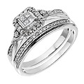 Perfect Fit Palladium 1/3 Carat Diamond Princessa Bridal Set - Product number 2027364