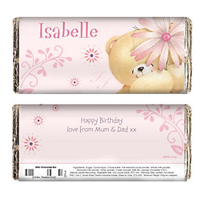 Personalised Forever Friends Chocolate Bar-Big Flower Design - Product number 2032422