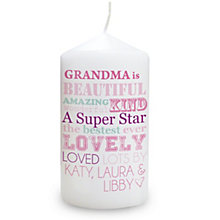 Personalised Candle - 'She Is…' Design - Product number 2032635