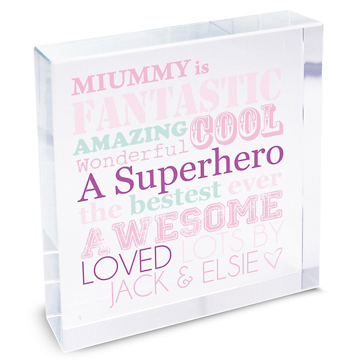 Personalised Large Crystal Token 'She Is' Design - Product number 2032708