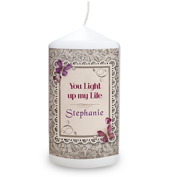 Personalised Candle - Butterfly Gem Design - Product number 2033046